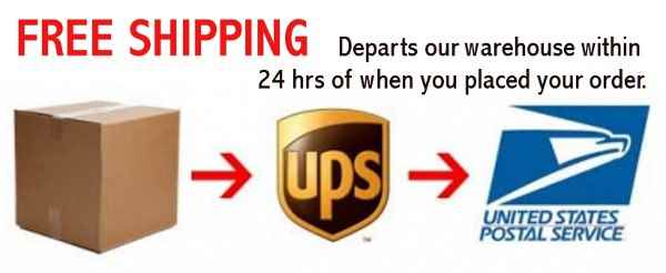 Free Next Day Shipping UPS SurePost USPS